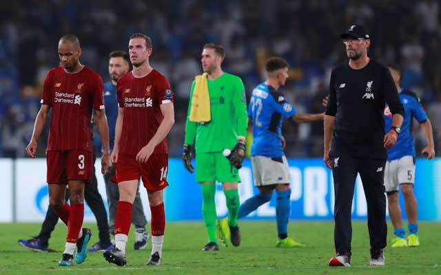 Liverpool's Champions League defence begins with defeat to Napoli